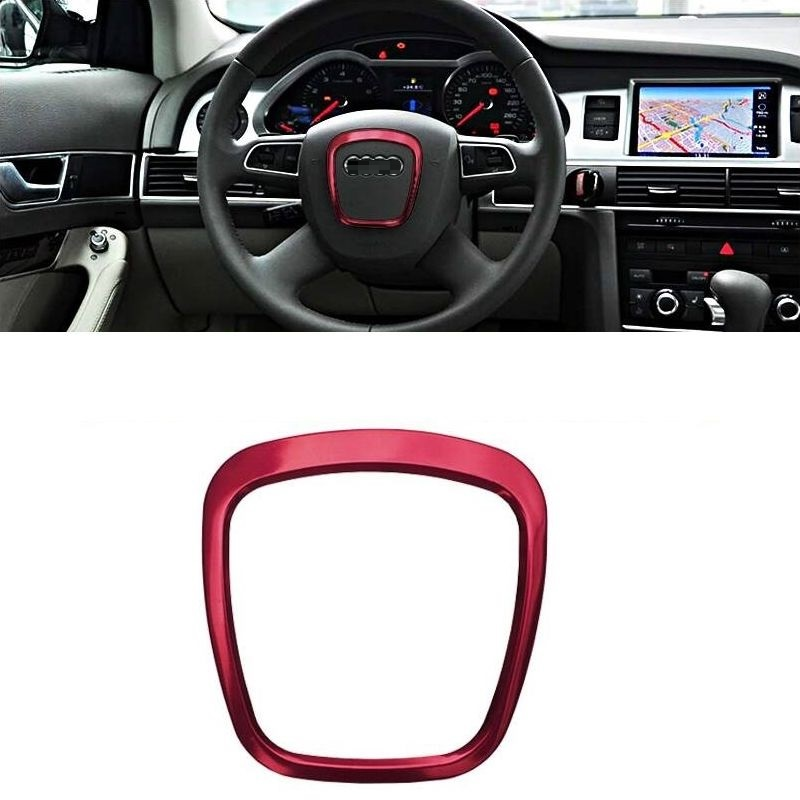 Steering Wheel Automobile Modified Auto Chromium Decorative Upgraded Car Styling Bright Sequins Accessory 18 19 FOR Audi A1(China)