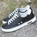 fall new men casual shoes trend white summer breathable pu leather platform shoes
