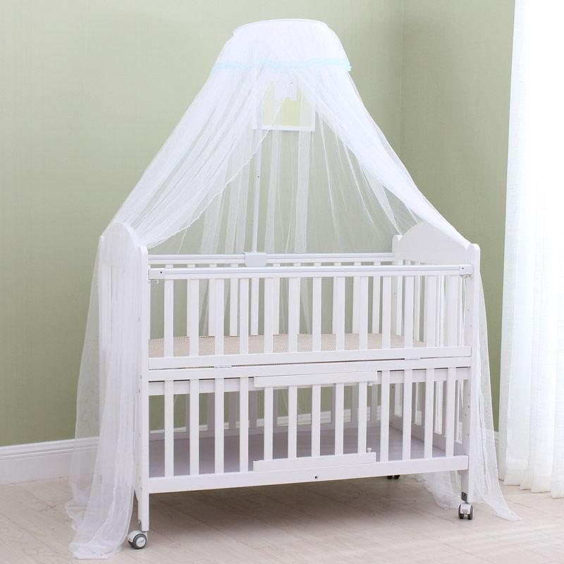 Enfants moustiquaire ronde été Polyester maille tissu voyage Camping maison moustiquaire pour bébés lit rideau lit Net fournitures