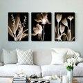Настенная живопись на холсте абстрактные белые цветы живопись на холсте домашний декор настенные картины для гостиной настенная живопись ...
