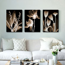 Wall Art Canvas Painting Abstract White Flowers Painting On Canvas Home Decor Wall Pictures For Living Room Wall Painting HY19(China)