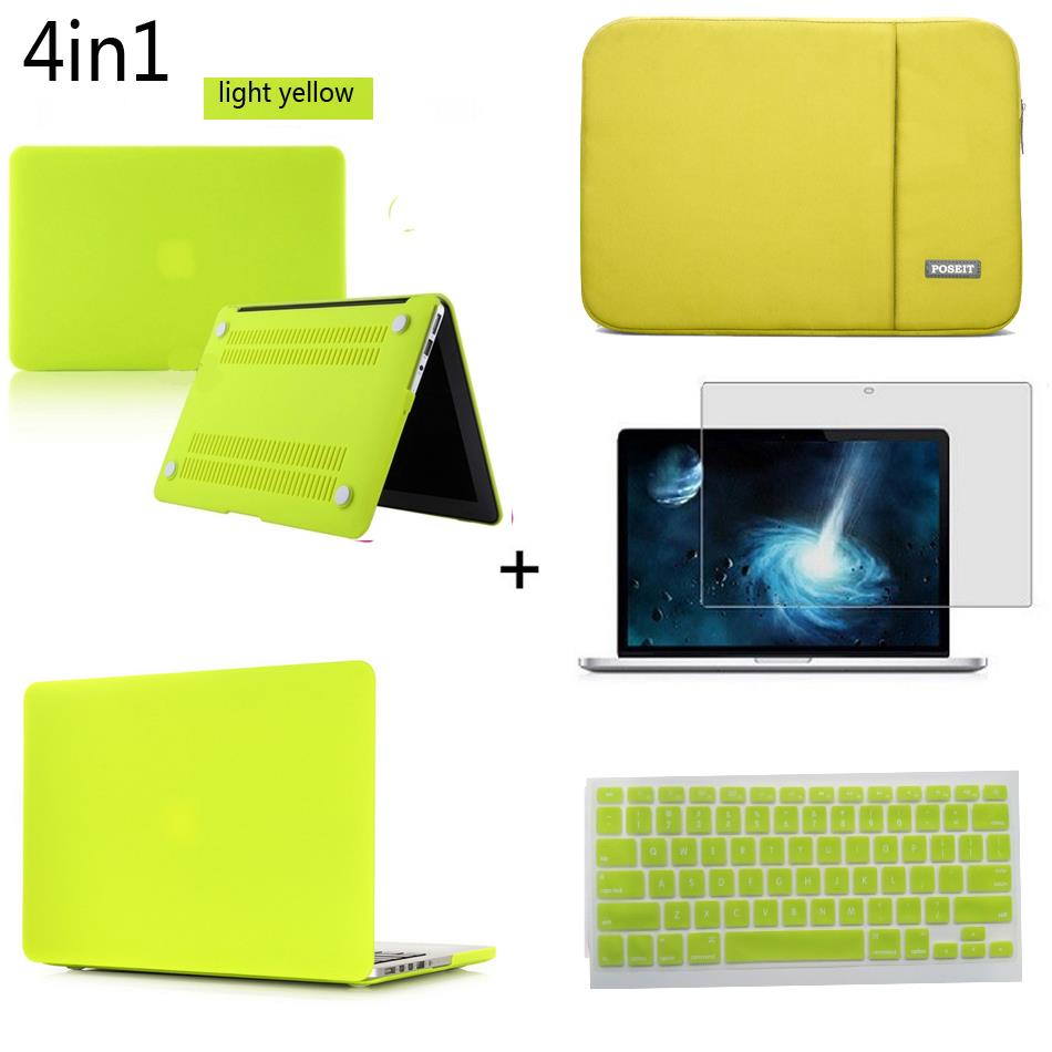 4in1 Matte Hard case sleeve keyboard cover LCD For Macbook Pro Air Retina 11 12 13 15 laptop Bag Touch Bar A1990/A1989 New 2018