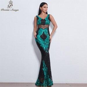 Image 5 - Đẹp Đôi Cánh Thiên Thần Đầm Váy ĐầM Dạ Nữ Dài Đầm Vestido De Festa Váy Dạ Hội Vestidos Đầm Vestido De Festa Longo