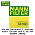 1pc MANN FILTER Car Cabin Filter For VW Variant Golf 7 Passat lamando Audi A3 SKODA Superb Octavia CUK26009 Activated Carbon