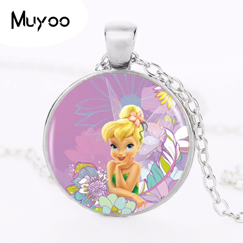 Logo Pendant Necklace Hot Sale Fashion Cute TinkerBell Necklace Accessories For Child Girls Bronze Necklace Jewelry HZ1