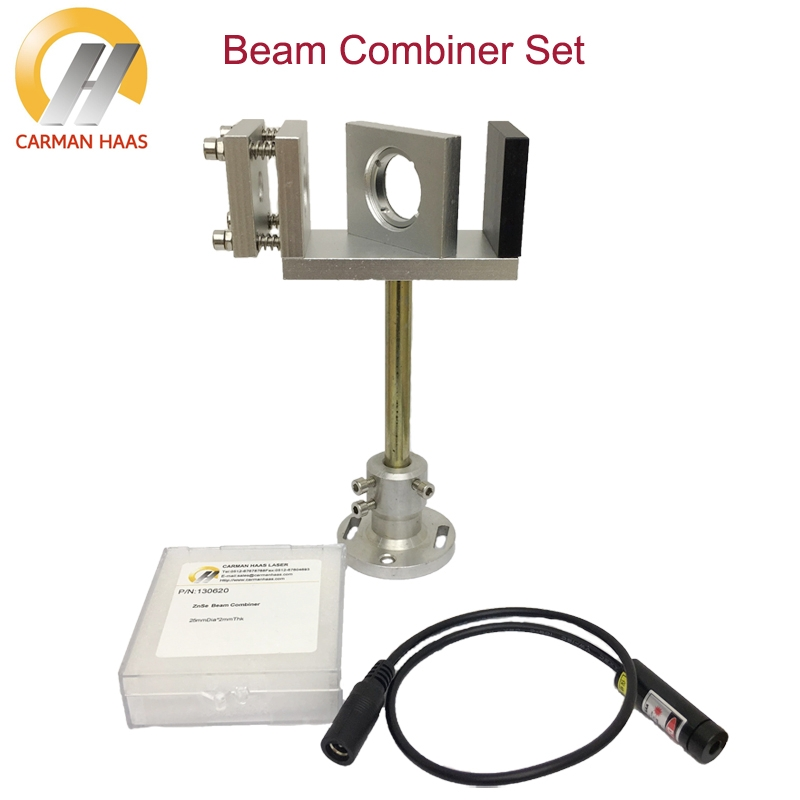 Beam Combiner Set 20/25mm ZnSe Laser Beam Combiner + Mount + Laser Red Pointer for CO2 Laser Engraving Cutting Machine best quality dia25mm thickness 2mm laser beam combiner for 1064nm laser marking machine beam combiner