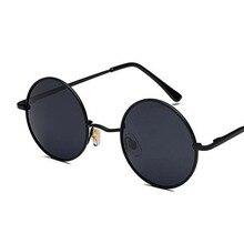 de6891bcd8 Retro gafas de las mujeres de los hombres gafas de sol redondas de Metal  Vintage Hippie gafas lentes de círculo