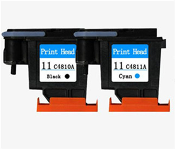 Factory Price 2 PCS Black Cyan for HP 11 Printhead C4810a for Print head 1000 1100 1200 2200 2280 2300 2600 2800 CP1700