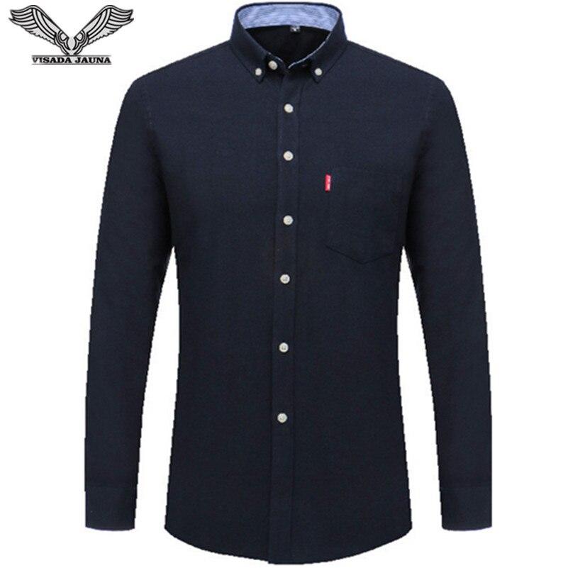 VISADA JAUNA Camisa de negocios de los hombres 2017 camisas de los - Ropa de hombre - foto 1