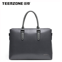 Brand Teemzone Men's Briefcases Men Shoulder Bags Brand Leather Handbag Cowhide Messenger Bag Travel Tote Laptop Bags Free Ship