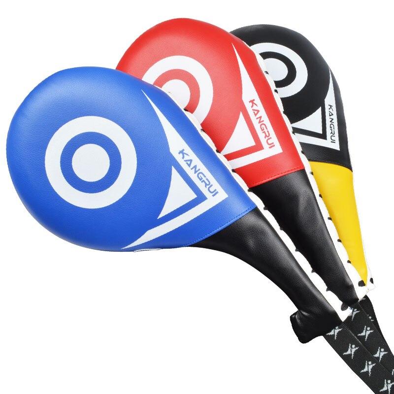 Красный и синий прочный тхэквондо Kick Pad Kick бокс целевой таэквондо Каратэ оборудования для детей и взрослых кикбоксингу каратэ стопы trget
