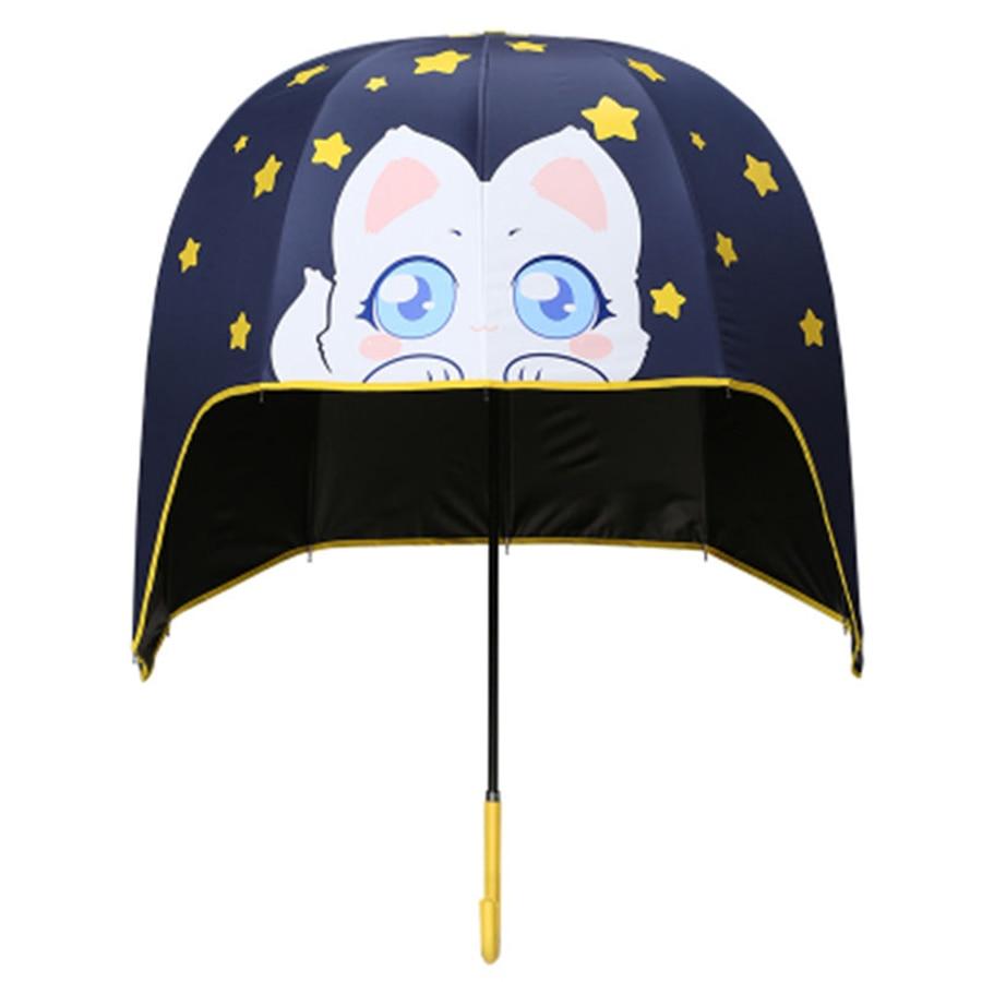 Parapluie créatif à Long manche dessin animé enfants beaux Parasols Anime parapluie Guarda Chuva Dupla Camada outils 50D0054