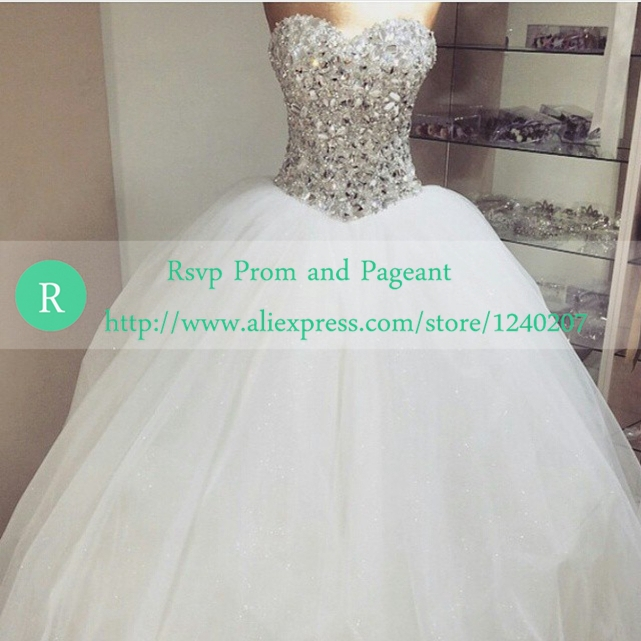 Huge Ball Gown Wedding Dresses With Bling : Buy unique ball gown wedding dresses sweetheart neckline bling