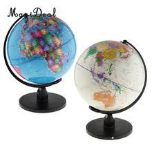 Большой Поворотный Spining World Globe модель школы география образовательные комплекты для обучения детей