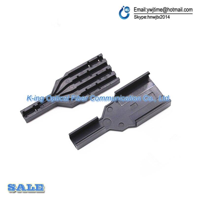 100 pc câble optique FTTH Drop boîte de protection de câble en fiber Optique boîte de Protection tubes pour protéger le plateau d'épissure de fiber de 1 dans 4