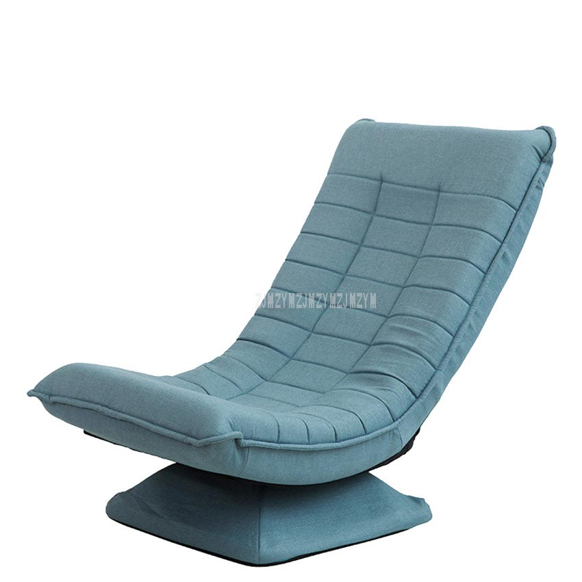 360 Degree Rotatable Adjustable Single Sofa Lazy Chaise Lounge Chair Reading Living Room Bedroom Foldable Soft Leisure Chair