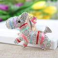 New Crystal Animal Horse Keychain Jewelry Fashion Key ring Accessory Purse Charm Pendant Gift