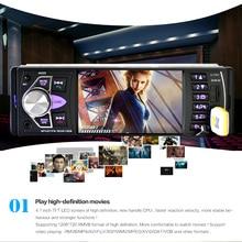 4.1 Pulgadas 1 Din TFT 12 V HD Car Stereo Radio Bluetooth MP3 MP5 Apoyo Al Jugador USB/FM/TF/AUX con Retrovisor cámara