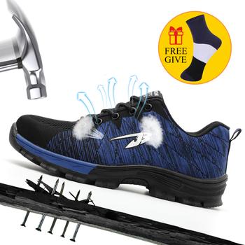 Męskie buty ze stali Toe buty robocze BHP na co dzień oddychające do biegania na świeżym powietrzu odporne na przebicie buty wygodne przemysłowe buty dla mężczyzn tanie i dobre opinie ODBL Pracy i bezpieczeństwa Płótno ANKLE Kamuflaż Dla dorosłych Okrągły nosek Lato Niska (1 cm-3 cm) Lace-up Pasuje prawda na wymiar weź swój normalny rozmiar