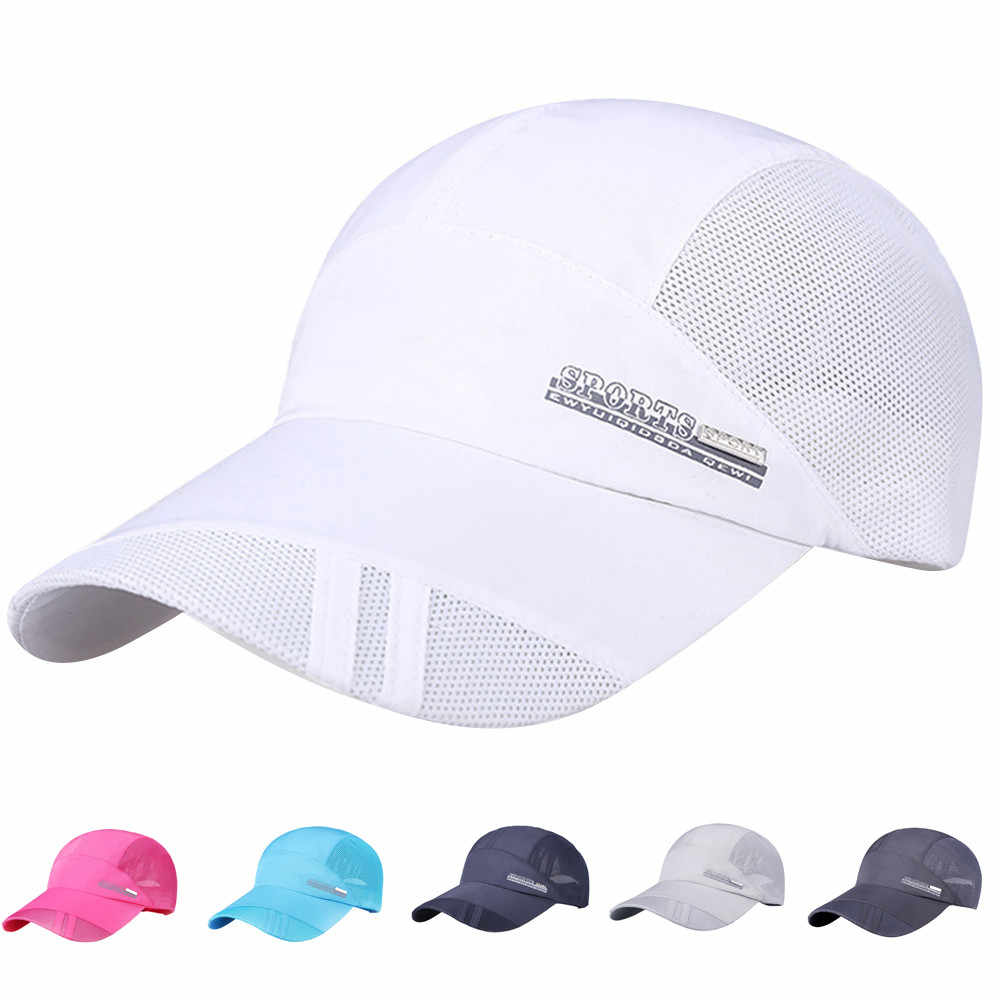 2017 1PC Mesh Sun Hat Snapback Cap Cotton Adjustable Baseball Cap Hip Hop Hat Unisex  golf cap for men women drop shipping JL31H