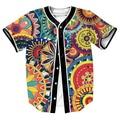 Estilo Tribal Flores divertido Jersey camisa de sudor de Verano con botones 3d Hip Hop Streetwear hombres camisas casual tops camisa