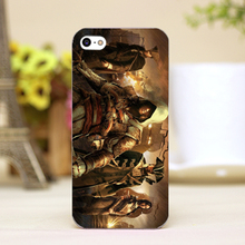pz0021 16 Assassins game Design Customized cellphone transparent cover cases for 4 5 5c 5s 6