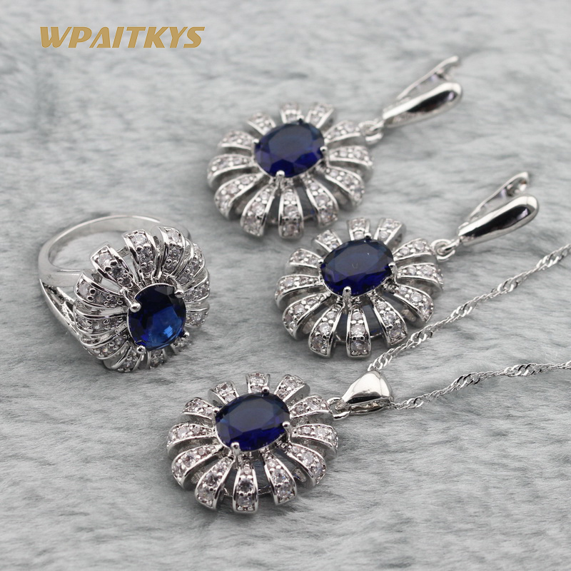 Արծաթ 925 զարդերի հավաքածու կանանց - Նորաձև զարդեր - Լուսանկար 2