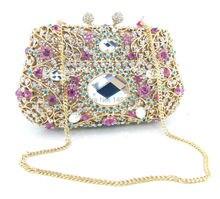 Z1125-4 neue frauen diamanten luxuriöse top abend taschen kupplung messenger schulter kette handtaschen mit acryl portemonnaie