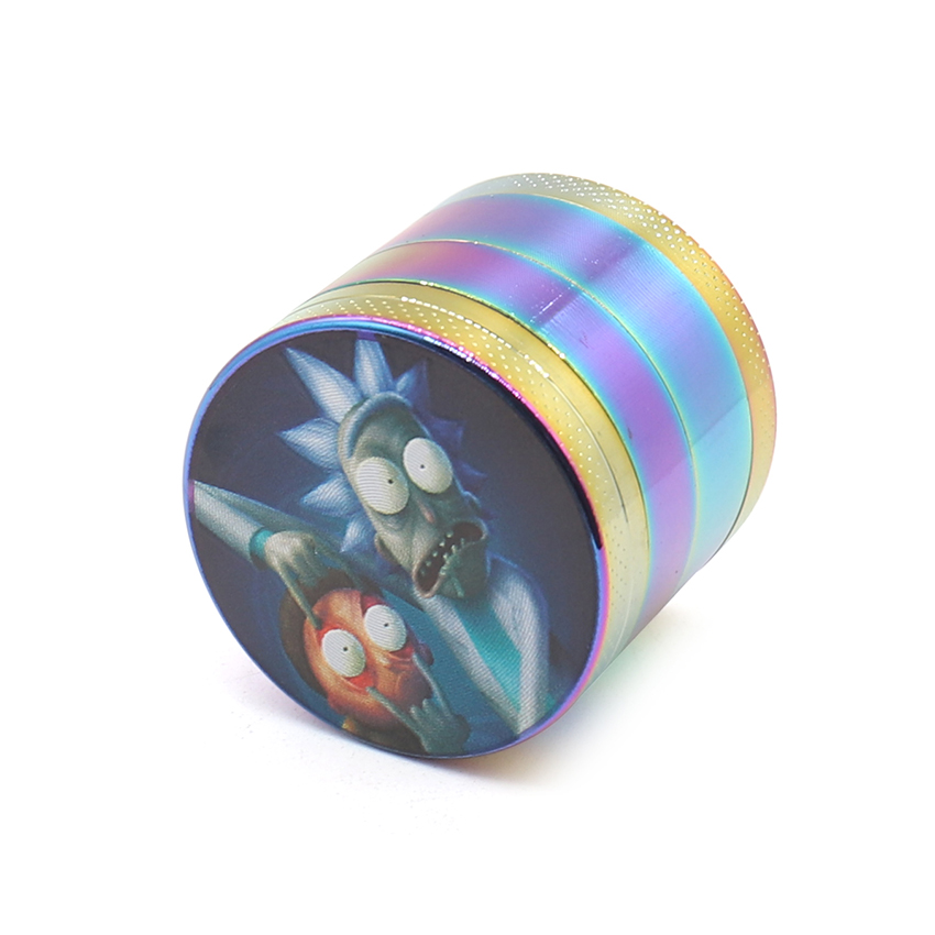 Hot Rick and Morty Herb Grinder Mini 40mm 4 Layers Metal Zin