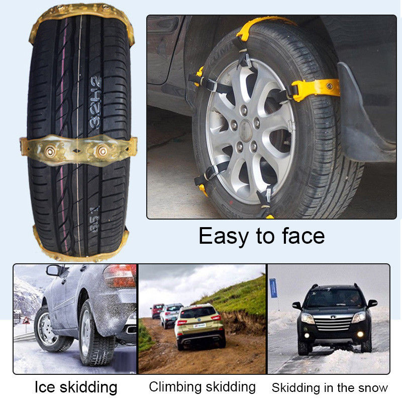 1Pc Winter Anti-skid Chains Car Snow Mud Wheel Tyre Thickened Tire Tendon 165-195mm CSL2018