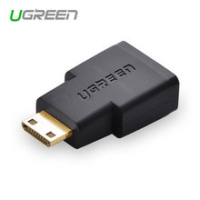 Ugreen Mini HDMI Male naar HDMI Female Adapter Vergulde HDMI Connector voor Smartphones Camcorder Tabletten Camera Zwart Kleur(China)