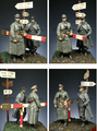resin assembly  Kits 1/ 35  WW2 German Officers include 2 soldiers  Unpainted Kit Resin Model Free Shipping