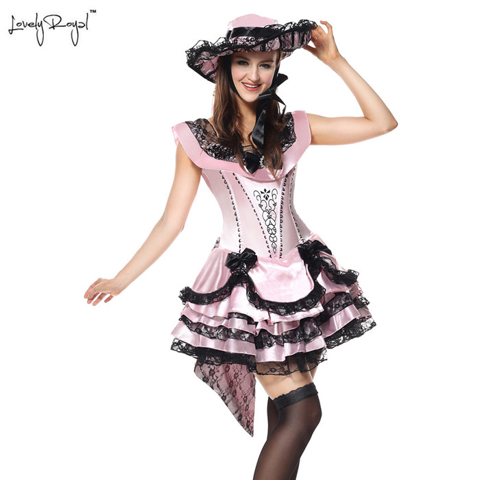 Ladies Cosplay Princess Maid Costumes Outfit Victorian Gothic Ruffle Fancy Dress