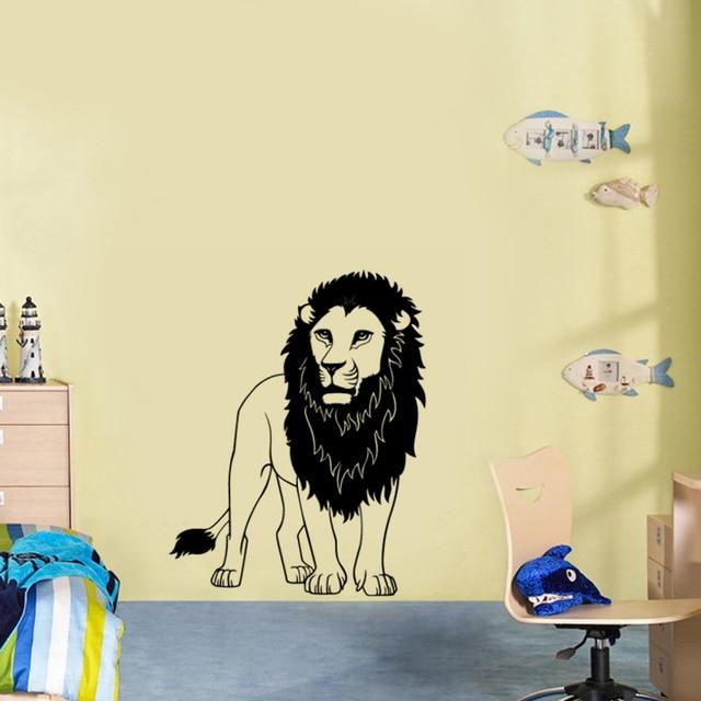 A Male Lion Vinyl Wall Decal Home Decor Diy Art Mural Living Room ...
