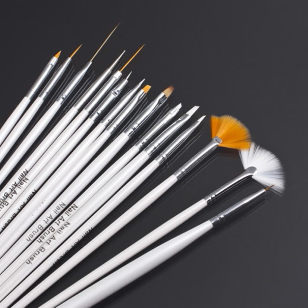 Nail Art Equipment 15 pcs Nail Art Decorations Brush Set Tools ...