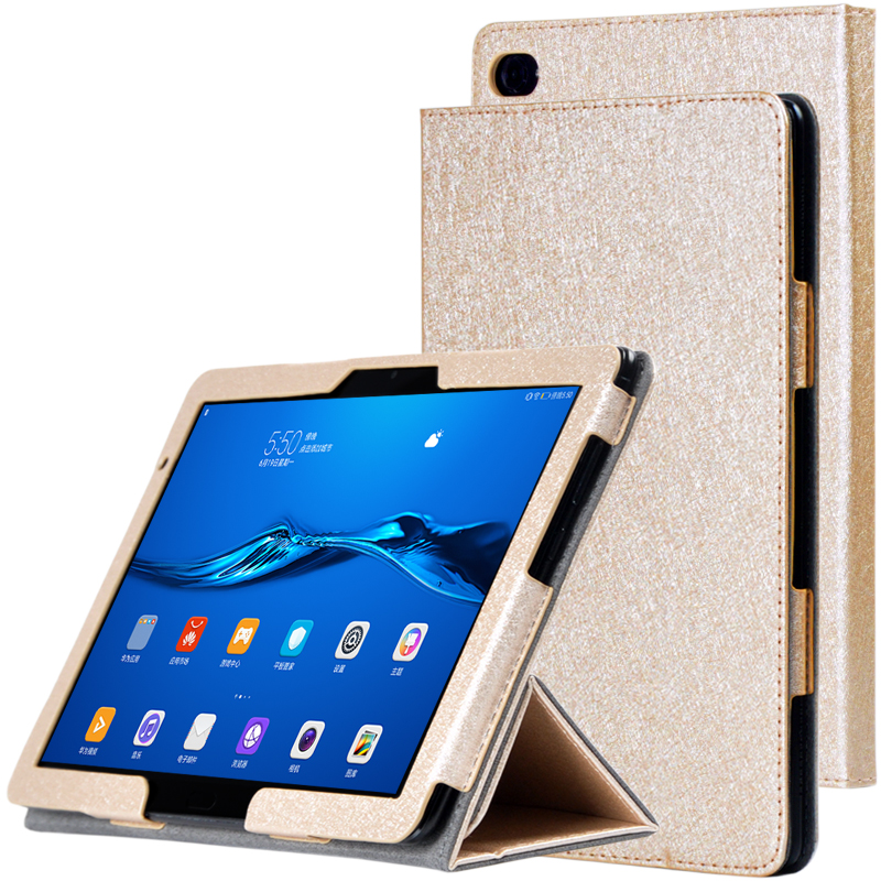 Slim Luxury Silk Grain Flip Stand Cover Case For Huawei MediaPad M5 Lite 10 Case BAH2-W09 BAH2-L09 BAH2-W19 10.1''Tablet Shell light weight painting case for huawei mediapad m5 lite10 case for huawei m5 lite 10 bah2 l09 w19 dl a tablet 10 1 cover