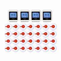 Récepteur sans fil de montre-bracelet de 4 pièces 999 canaux RF pour le Restaurant de magasin de restauration rapide appelant le système de radiomessagerie 433 MHz + 28 bouton F3288B