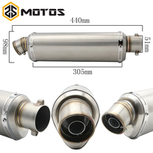 ZS MOTOS 6 colors Modified Motorcycle Carbon Fiber Exhaust Muffler Pipe for CB400 CBR125 CBR600 YZF Z750 Z800 Z1000