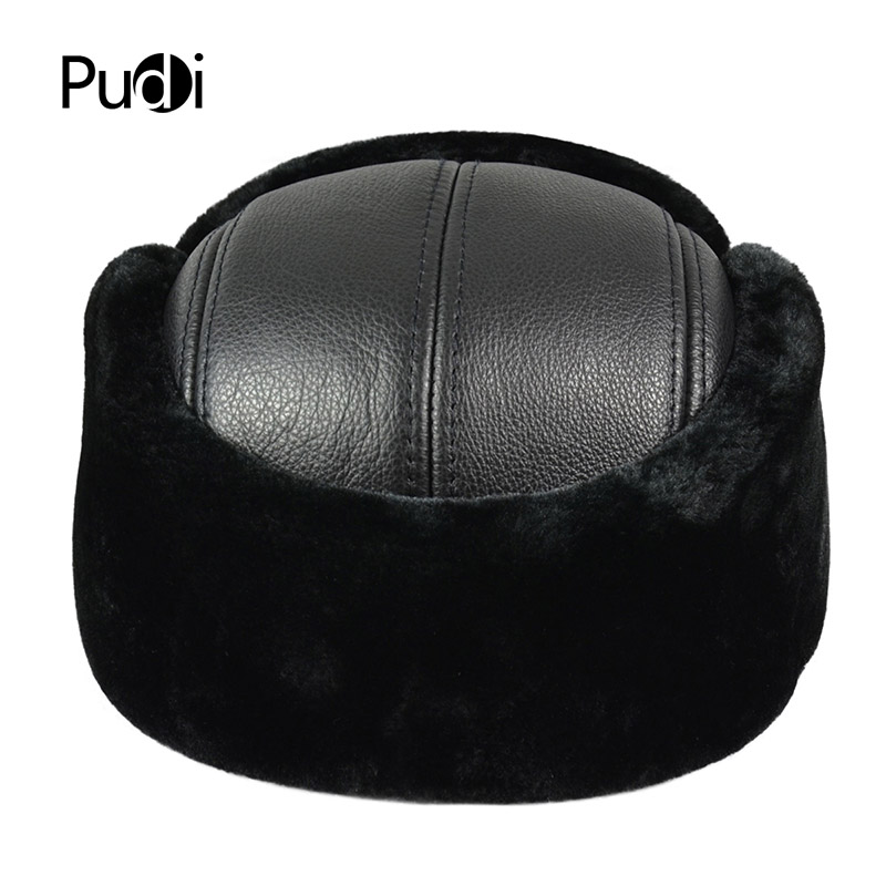HL073 Winter hats for men women Faux fur bomber real leather cap hat 2017 Russian warm baseball caps hats in Men 39 s Baseball Caps from Apparel Accessories