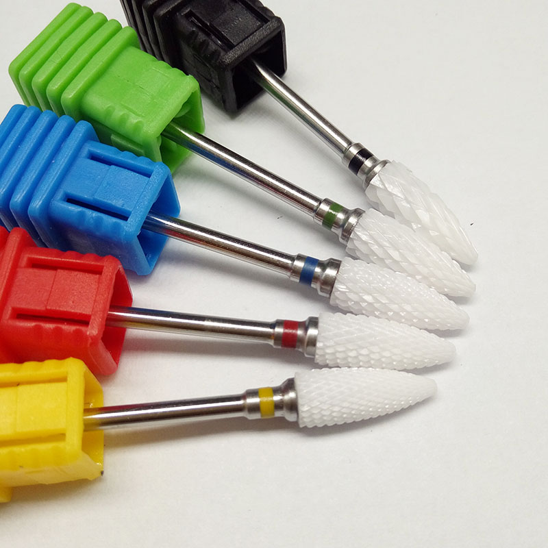 1 piece Bullet Ceramic Nail Drill Bit electric manicure machine accessories Nail Art Tools Electric Manicure