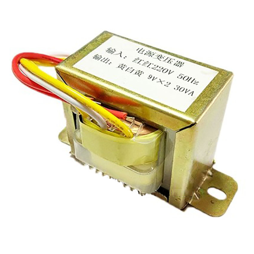 EI57 30W 220V-9V transformer input 220v 50Hz output <font><b>30VA</b></font> double 9v power transformers image