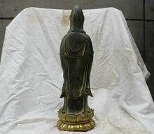 14.4 Chino Budismo Tibetano Tibet Templo de Bronce estatua de la Diosa de la Misericordia de Buda