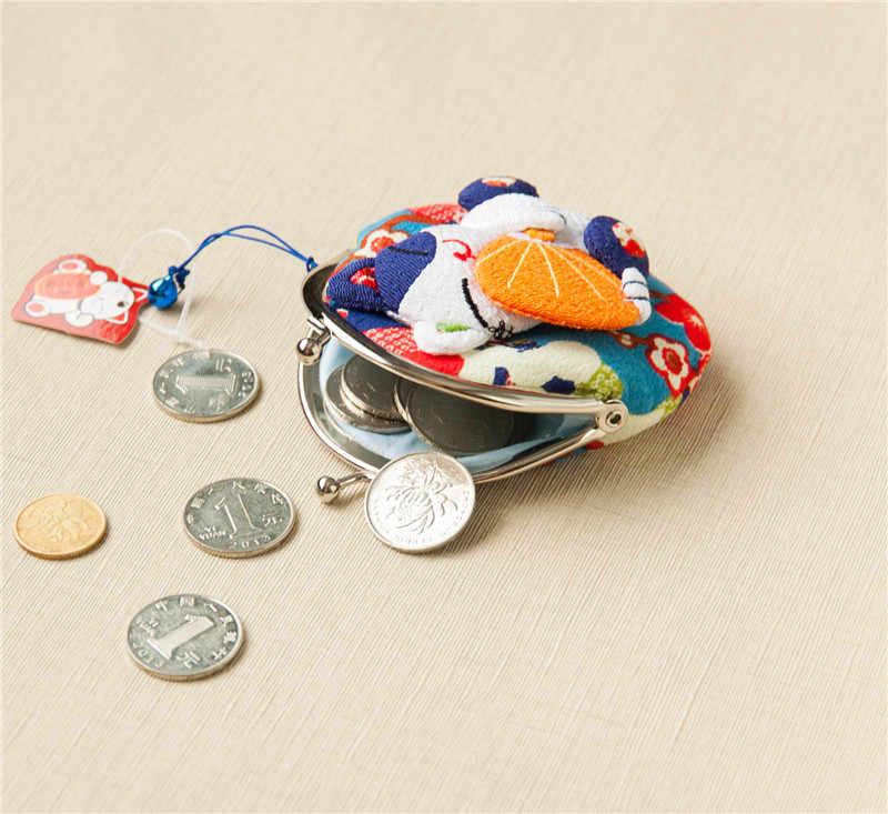 Bozuk para cüzdanı Çocuklar Karikatür Cüzdan Kawaii Çanta bozuk para kesesi Çocuk çanta tutucu Kadın Sikke Cüzdan japon kimono kumaş sikke çantası
