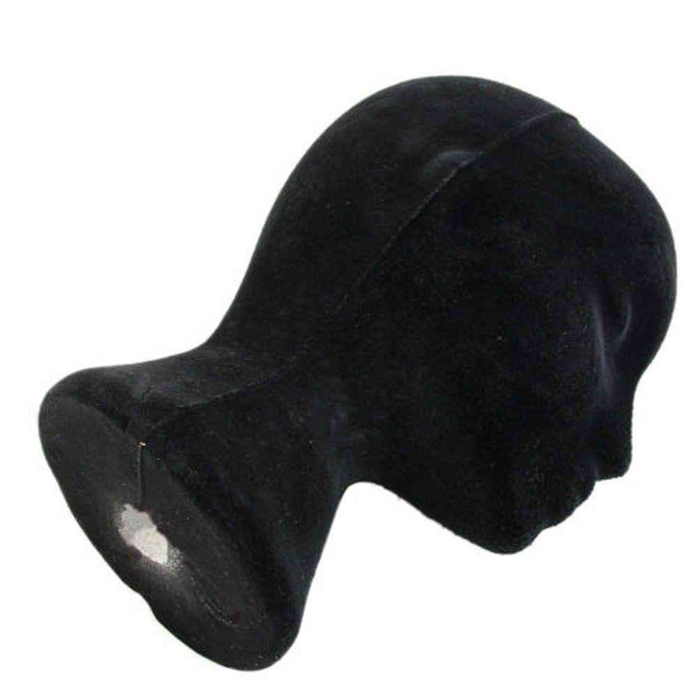 Vrouwelijke Piepschuim Mannequin Zwarte Pruik Glazen Hoed Display Stand Populaire Schuimkraag Model Opslag Houders Wit 1Pc