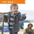 2013 Novo Garoto Chegada Jaqueta Casaco de Inverno Criança Infantil Moda Infantil Botão Da Buzina Casaco Menino Ocasional Outerwear