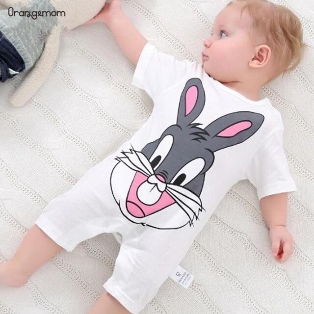 الصيف 2019 طفل داخلية 0-24M قصيرة الأكمام الرضع هيئة الوليد طفلة الصبي الملابس القطن الرضع ارتداءها زي شخصية كرتونية 1