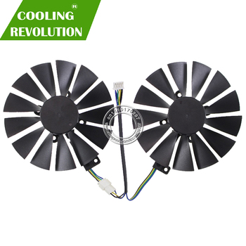 Diameter 95MM graphics card fan for ASUS CERBERUS GeForce GTX1070TI A8G GDDR5 T129215SM FDC10M12S9-C DC12V 0.25A 4PIM image