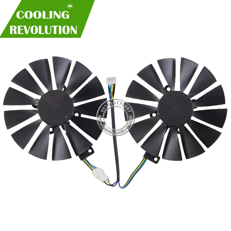 Diameter 95MM graphics card fan for ASUS CERBERUS <font><b>GeForce</b></font> <font><b>GTX1070TI</b></font> A8G GDDR5 T129215SM FDC10M12S9-C DC12V 0.25A 4PIM image
