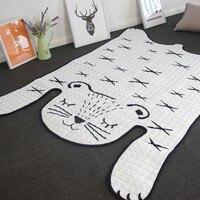 Popular In Instagram Floor Mat 130 185cm Playing Blanket Carpet Rug In Tiger Shaped Decorative Bedside