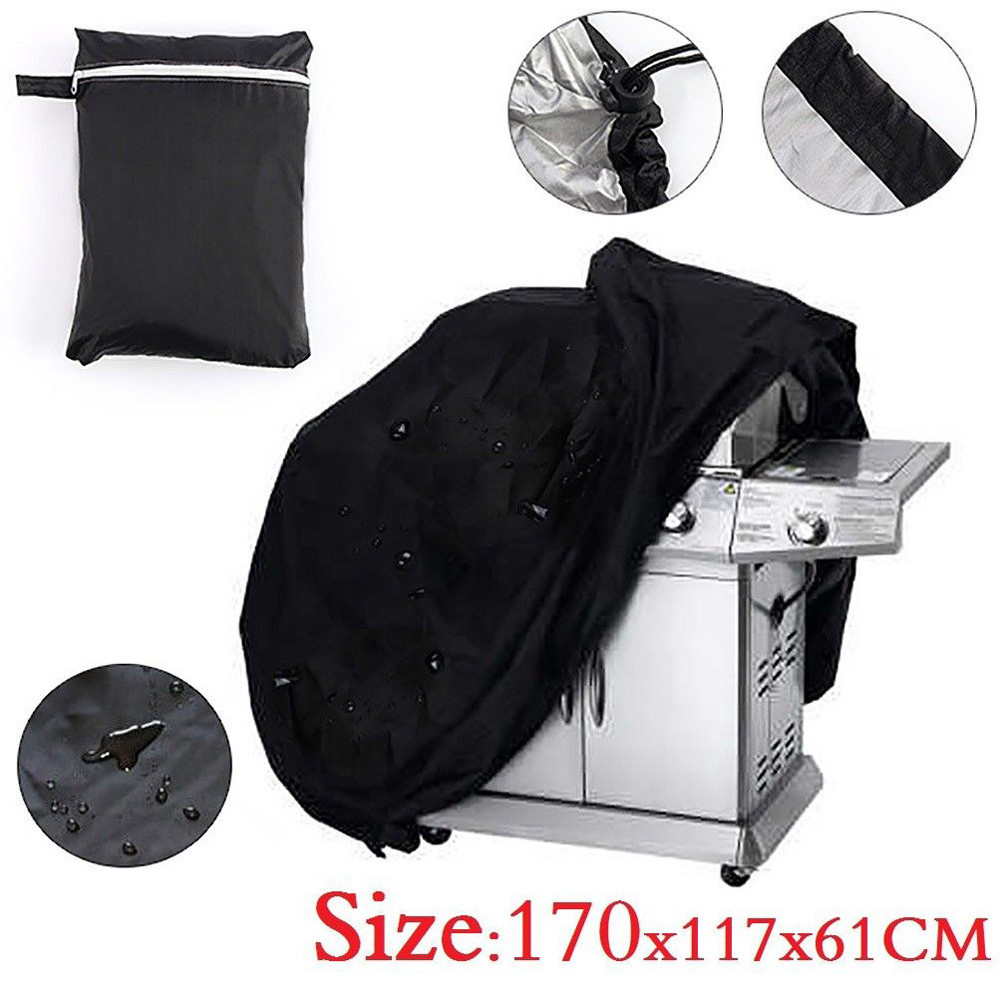 Durable Extra Large BBQ Cover Heavy Duty Waterproof Rain Snow Barbeque Grill Protector dustproof sun block windproof Practical